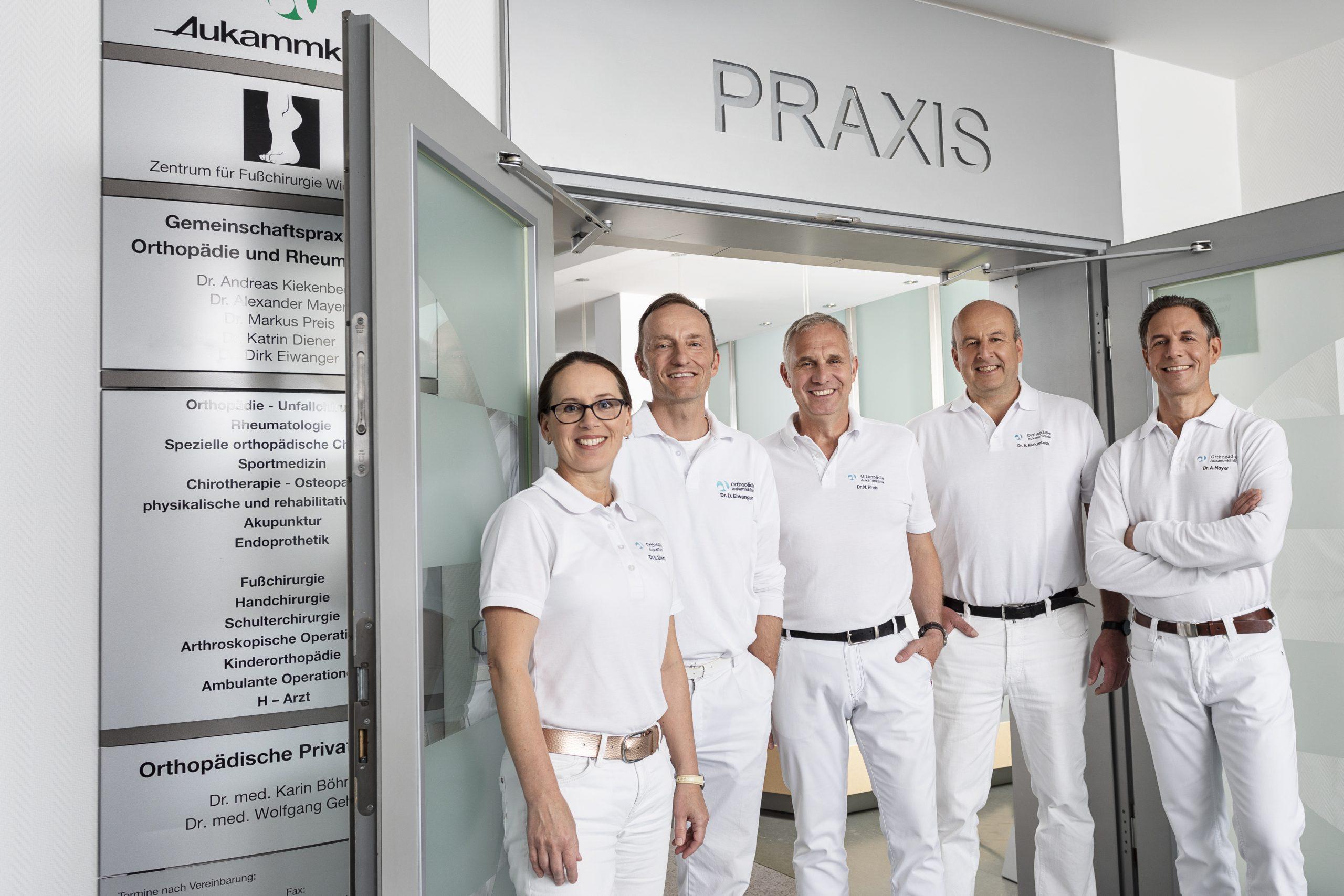 Das orthopädische Ärzteteam als Leitung der HELIOS Aukamm-Klinik